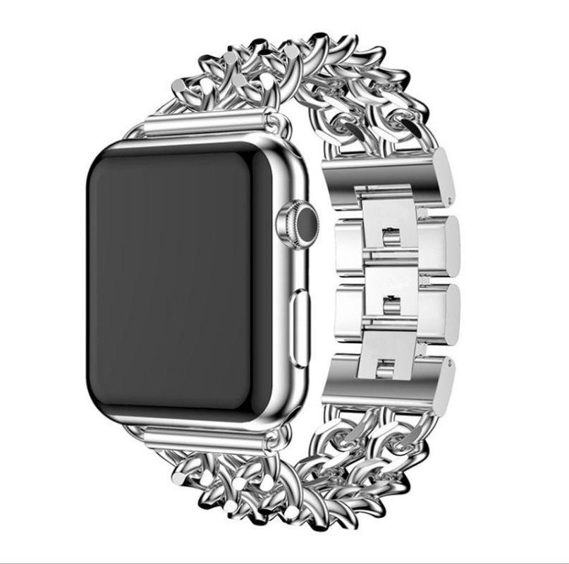 Strap di lusso per Apple Osservare Serie 1 2 3 4 5 Stainless Steel Band per iWatch 38 millimetri 40 millimetri 42 millimetri 44mm regolabile in metallo orologi cinturini per orologi