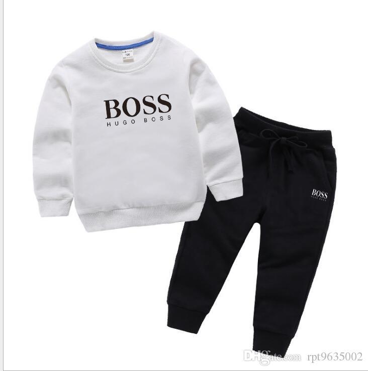 2020 ربيع الخريف الأطفال طفل رضيع بنين بنات ملابس هوديس السراويل 2PCS / SET الزي أطفال الرضع عارضة الملابس رياضية