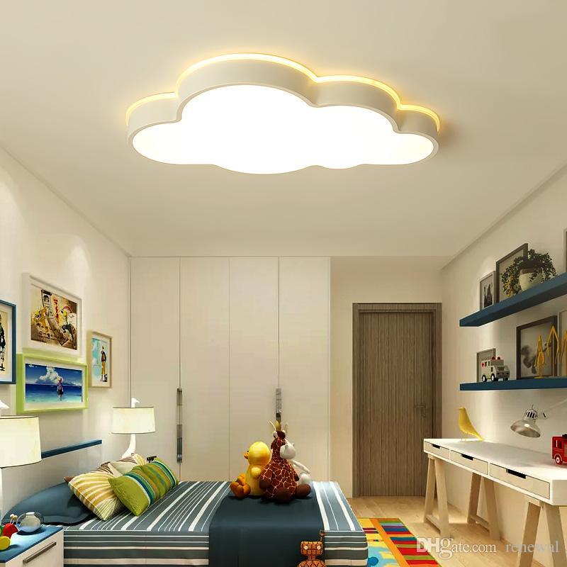 lustre de plafond moderne Clouds Moderne Led Deckenleuchten Für Schlafzimmer Arbeitszimmer Kinderzimmer Kinder Rom Cartoon Kinder Lichter
