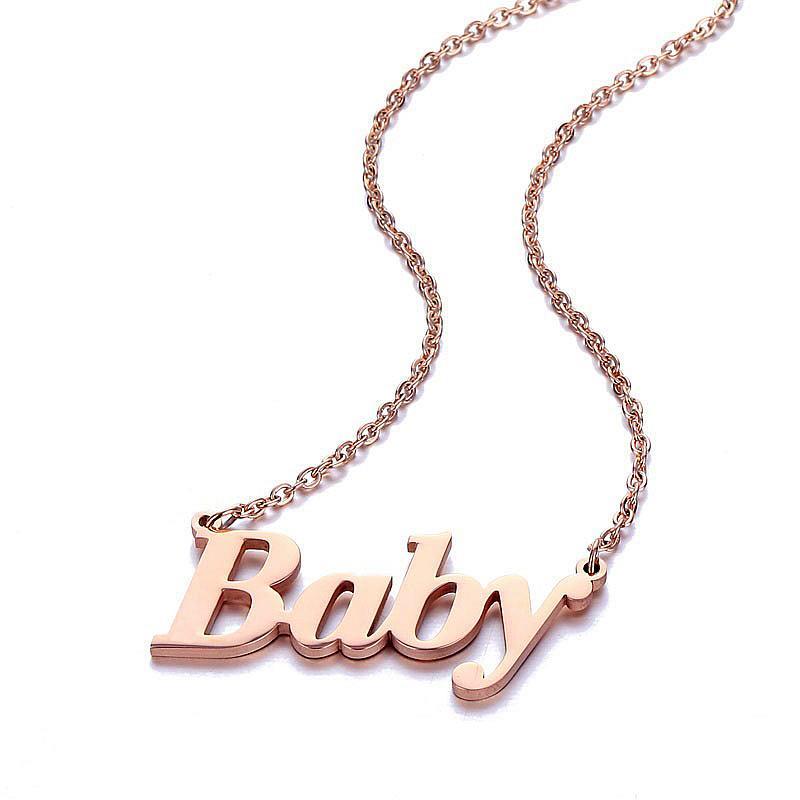 Colar conhecida personalizada Pingente de aço inoxidável únicos placa de identificação colares para Crianças bebê personalizado Jóias melhores presentes de aniversário