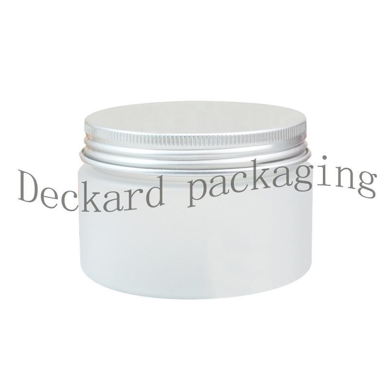 20pcs / lot 120ml Jar cápsula de aluminio Crema cosmética Helada maceta de plástico con tapa de metal helado frasco de plástico