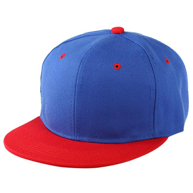 Обычная Snapback Hat Caps Flat Фанки ретро бейсболке Хип-хоп шляпы Урожай синий красный