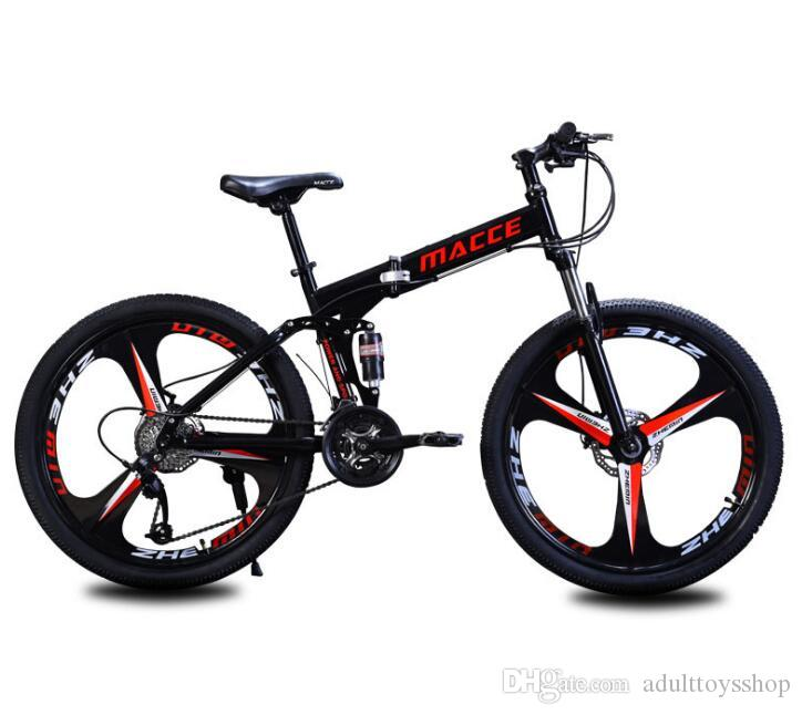 Atacado fábrica de vendas diretas bicicleta Maixi mountain bike dobrável 26 polegadas absorção de choque duplo velocidade uma geração