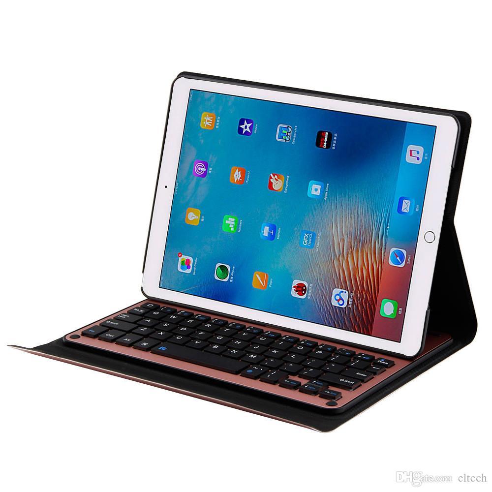 لوحة مفاتيح ذكية لـ 10.5 بوصة ، iPad Pro Slim Shell Cover Cover Folio Case Stand Backlit Keys Holder