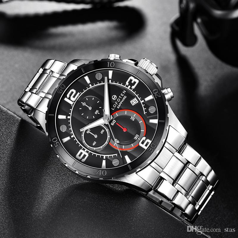 가죽 끈은 날짜 자동적인 기계적인 운동 남자 시계 호화스러운 스포츠 망 로즈 금 시계 손목 시계