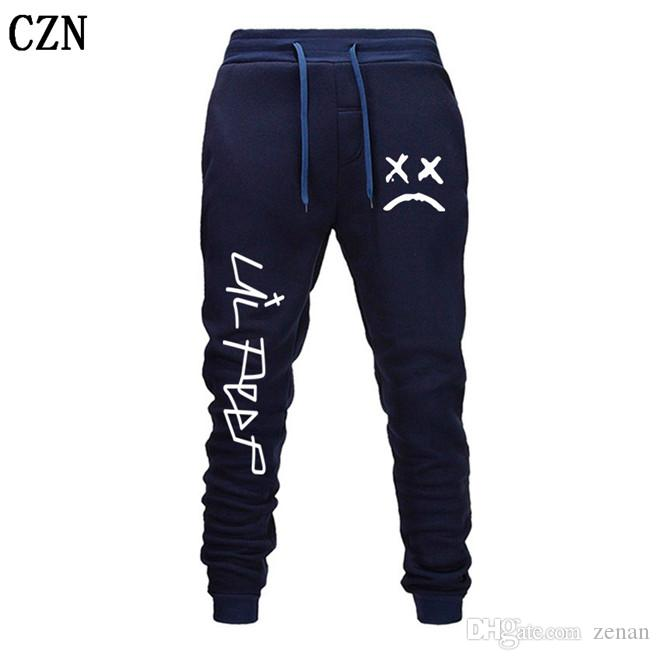 Envío gratuito Lil pío Pantalones Hip Hop Loose pantalón Hombres / Mujeres gimnasios pantalones pantalones casuales pantalones del basculador del basculador EL-7