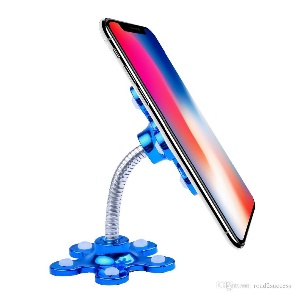حامل المصاص حامل الهاتف 360 درجة للتدوير ماجيك الالتصاق حامل الهاتف المحمول سيارة قوس الهاتف الذكي أقراص حامل