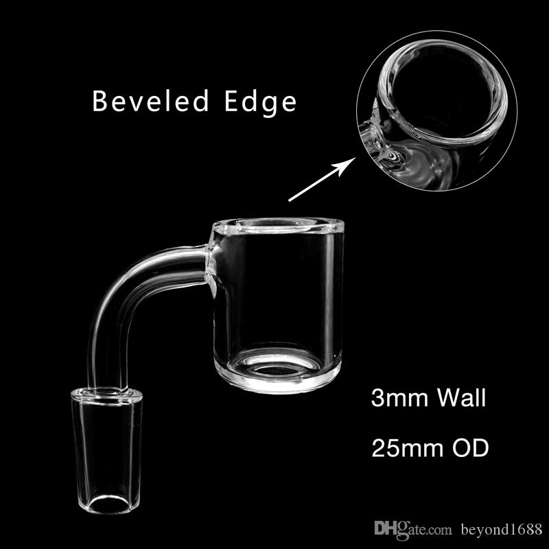 Scientific Joint 3mmXL Beveled Edge Quartz Banger 10mm 14mm 18mm Male Female 45 90 Quartz Bangers Nails For Glass Water Bongs Dab Rigs