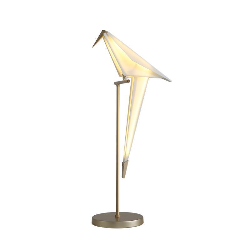 Guindaste de Origami Pássaro moderna lâmpada de assoalho levou arte nórdica Estilo Design Criativo lâmpada de estúdio de quarto contador da lâmpada Personalidade decoração cabeceira