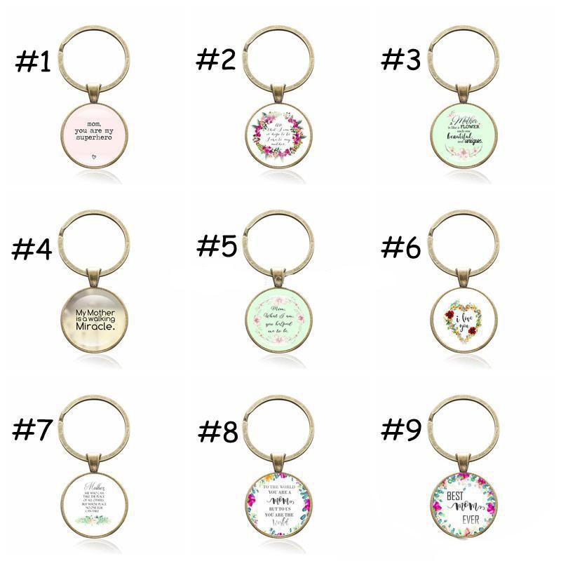 Mère Citations Porte-clés Cadeau De La Fête Des Mères Meilleure Maman Jamais Antique Bronze Porte-clés Porte-clés De Voiture Femmes Bijoux Sac Accessoires