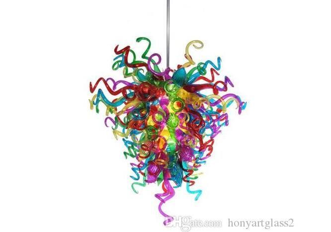 AC 110 V 120 V 220 V 240 V Multi Color geblasenem Glas Kronleuchter Licht Schlafzimmer Dekorative Murano Glas New Italian Style Kronleuchter