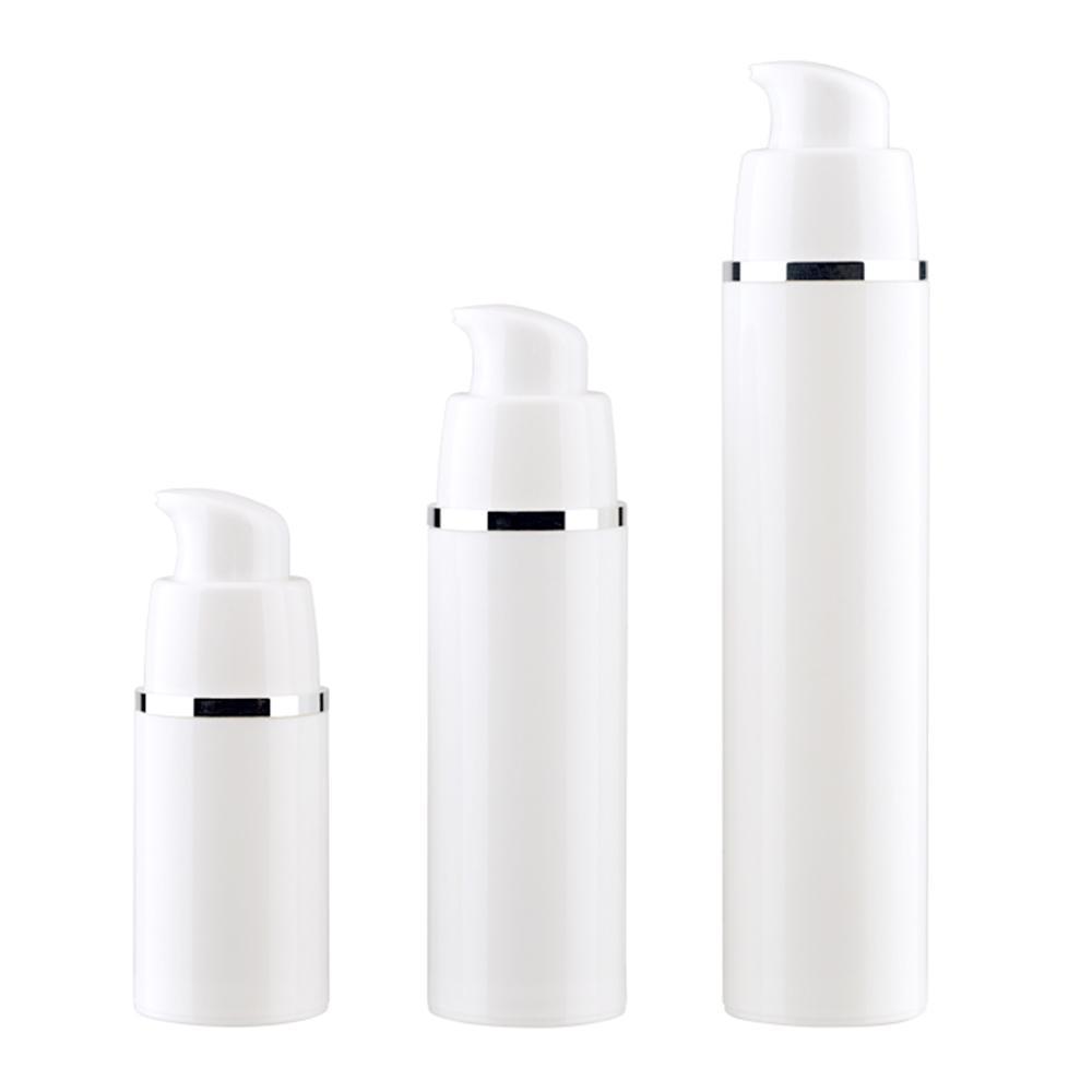 15 30 50ML vuoto bianco Bottiglie Airless pompa di vuoto di viaggio pompa della lozione confezioni airless Dispenser sapone bottiglia riutilizzabile Cosmetic