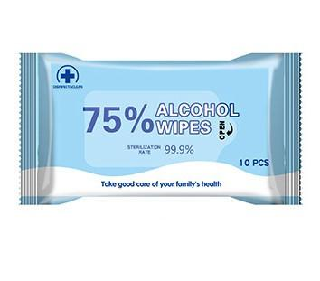 60 Pieces Wet Wipes 75/% Soft Alcohol Wipes for All-Purpose Cleaning Wipes