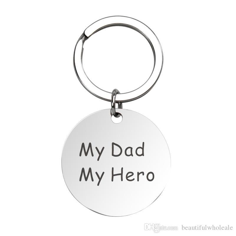 Babalar günü hediye Anahtarlık baba kolye babam benim kahramanım Babalar için anahtarlık Anahtarlık Hediye Kolye Anahtarlık Ücretsiz nakliye