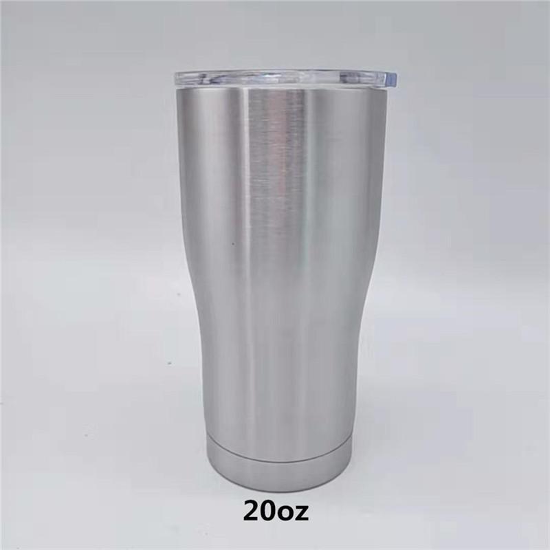 커피 뚜껑 20온스 곡선 텀블러 현대 커브 컵 곡선 물 잔을 두 번 벽으로 둘러싸인 스테인레스 스틸 병