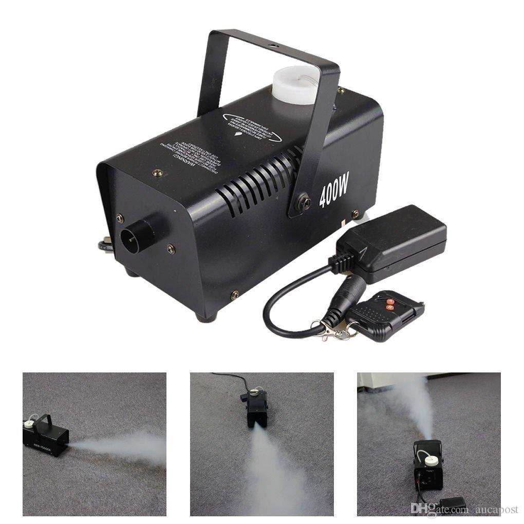 AUCD MINI 400W Weißrauch Fernbedienung Rauch Nebelmaschine Bühnenlampe Effekt W400