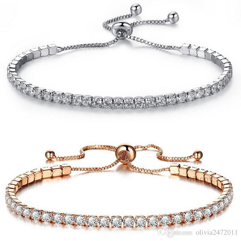 Mode Cubic Zirkonia Tennis Armband Armreifen für Frauen Geschenke Neue Mode Hochzeit Engagement Armbänder Bijoux