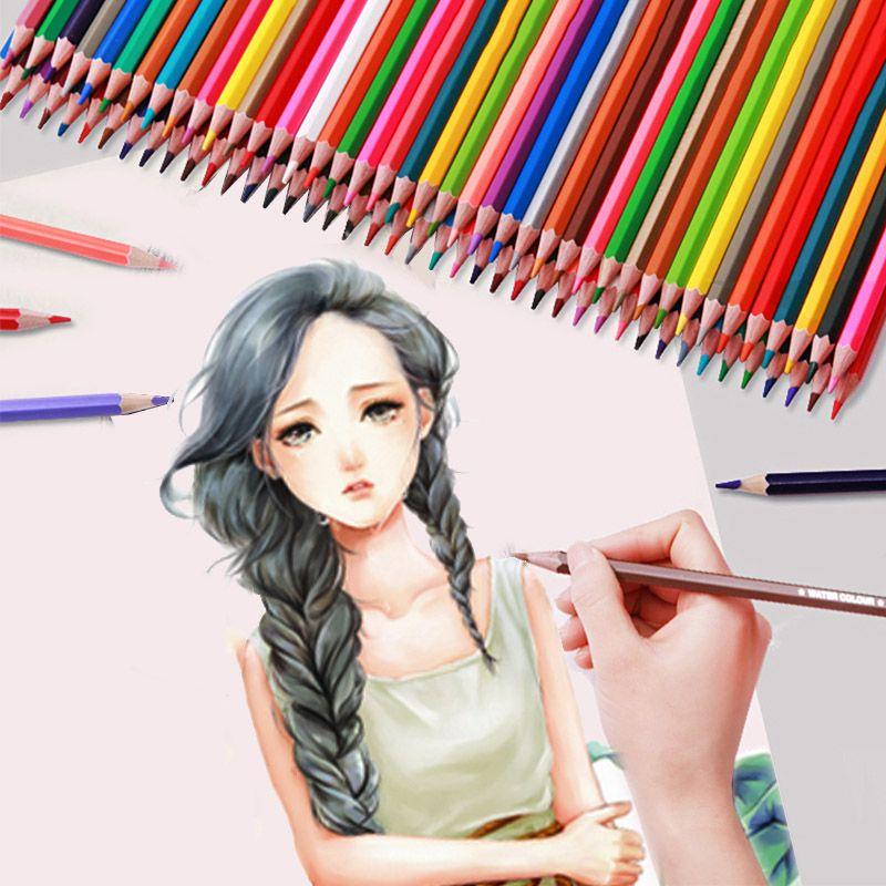 مجموعة من رصاص اللون الزيزفون أميركي 36/72 ألوان الفنان طالب رسم أقلام الرصاص الملونة النفط مكتب وازم الفن القرطاسية