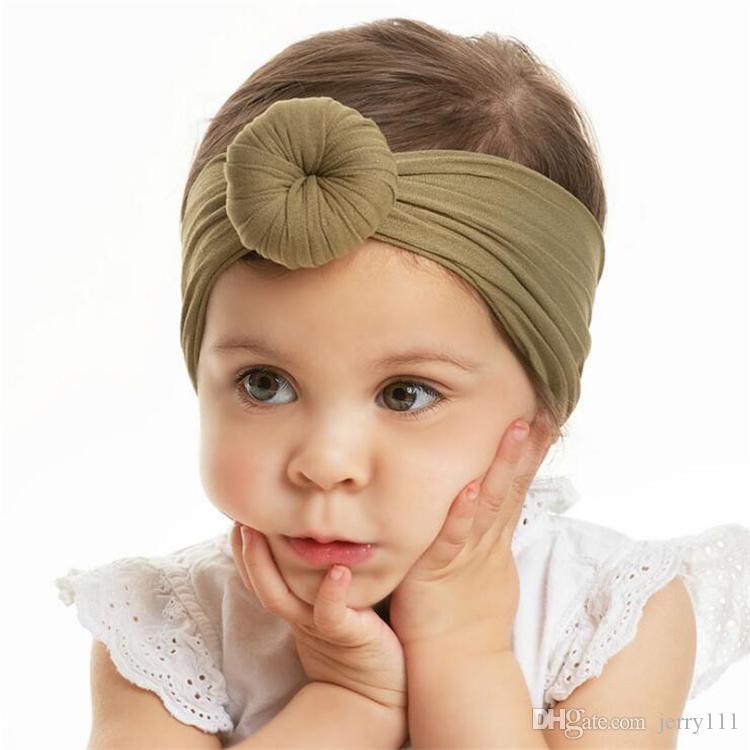 Meninas da abóbora do dia das bruxas designer headband donut headbands bebê designer headbands acessórios para o cabelo para meninas atacado FJ669