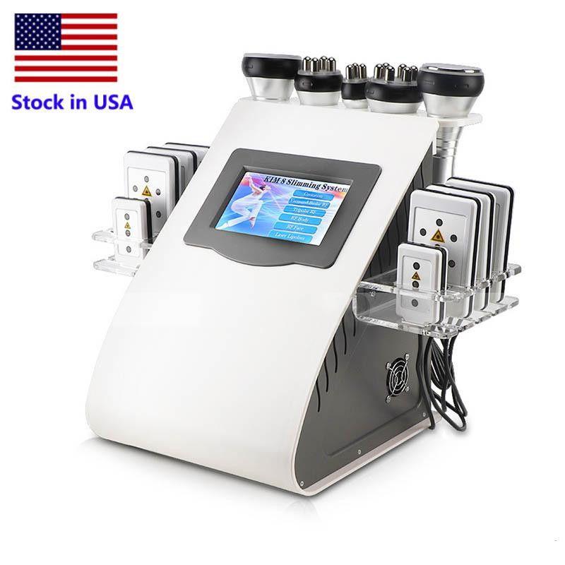 Azione negli SUA nuovo arrivo 40k ultrasuoni liposuzione cavitazione 8 Rilievi laser vuoto RF Skin Care Salon Spa Apparecchiatura di bellezza che dimagrisce macchina