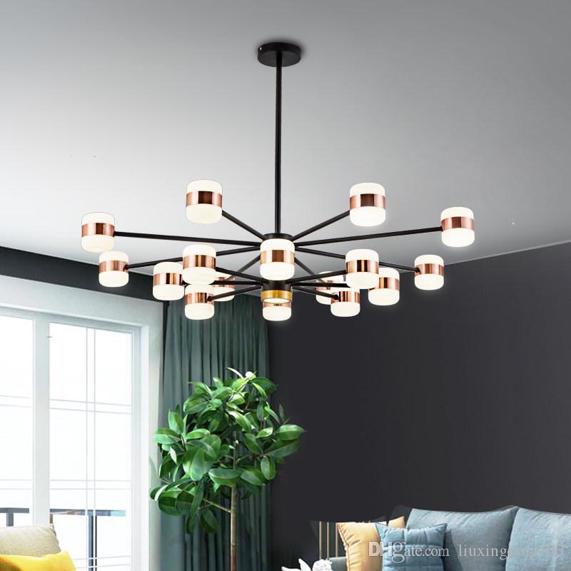 estilo nórdico lâmpadas luzes do quarto criativo minimalista pós-moderno restaurante atmosfera de casa quentes
