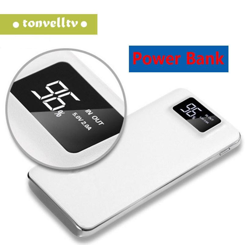 20000mAh Power Bank портативный внешнего аварийного зарядное устройство резервного копирования Универсальный мобильный телефон USB Зарядные устройства Пакет для умных мобильных телефонов
