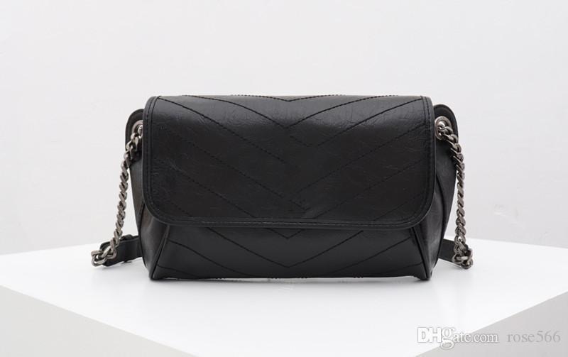Luxus Hohe Qualität aus Echtem Leder Umhängetasche Designer Frauen Tasche 28 CM Neue Mode Luxus Umhängetasche 1990