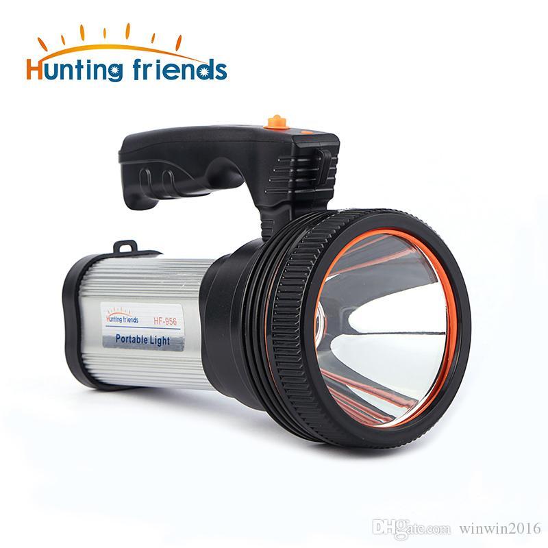 Super helle tragbare LED-Lampe (eingebaute Li-Ion-Batterie mit 9000 mA) + USB-Chaging-Kabel + Schultergurt in Schwarz / Silber / Gold-Farboption