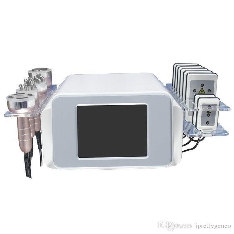 Radiofréquence bipolaire cavitation ultrasonique 6in1 enlèvement de la cellulite minceur machine de perte de poids de la machine