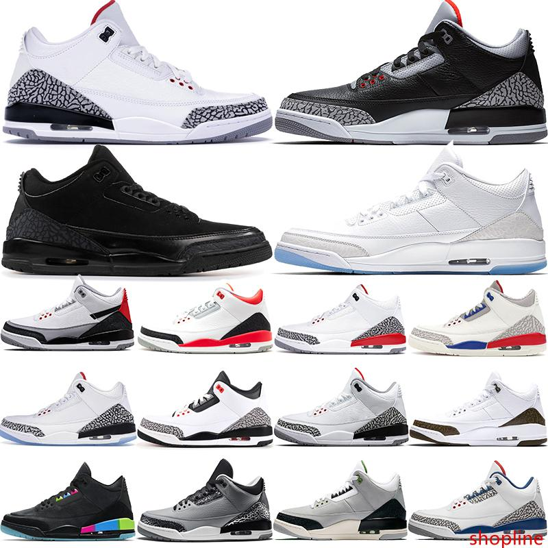 Jump men basketball shoes white black cement JTH true blue black cat fire red Charity game mens designer sneakers 40-47