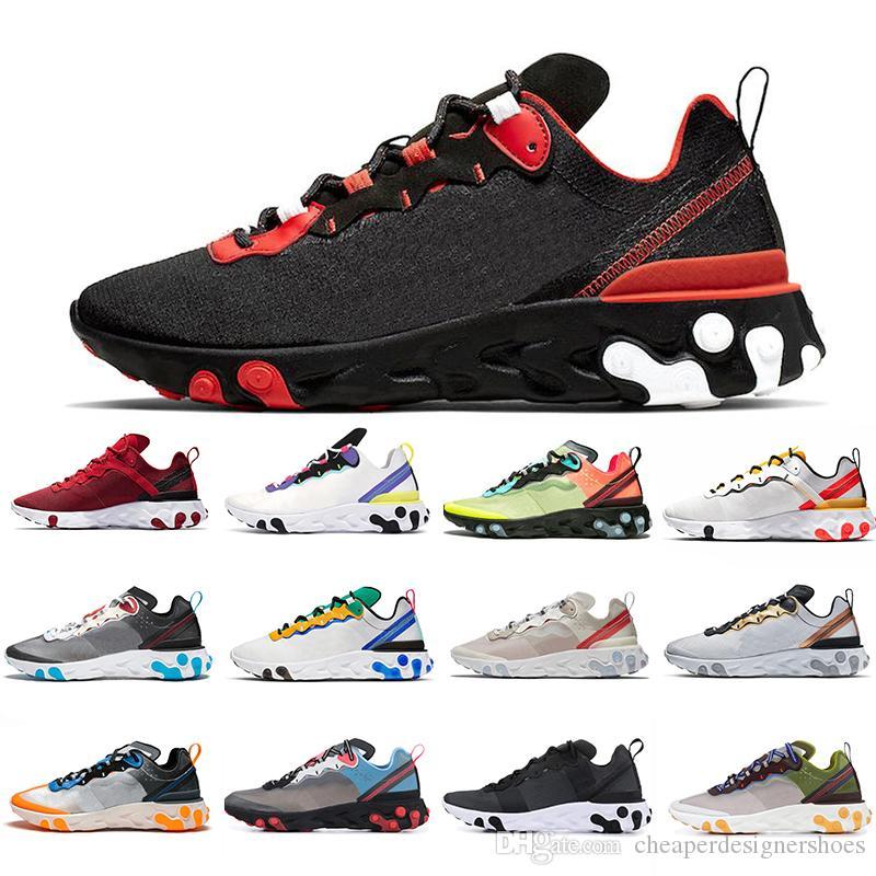 2020 Yeni Senaryo eleman 87 55 UNDERCOVER X SE kamuflaj takım üçlü siyah beyaz erkek eğitmenler spor ayakkabılarını kırmızı yetiştirilen koşu ayakkabıları tepki