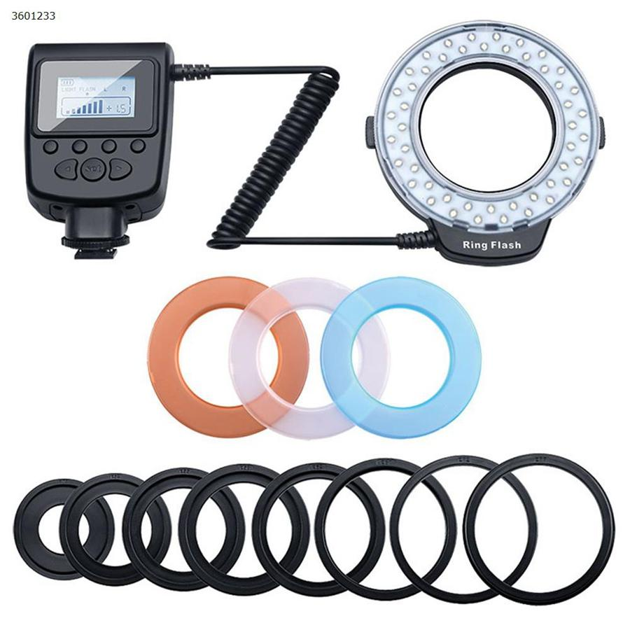 니콘 올림푸스 소니 DSLR 카메라 고해상도 LCD 디스플레이 휴대용 LED 매크로 링 플래시 라이트 램프
