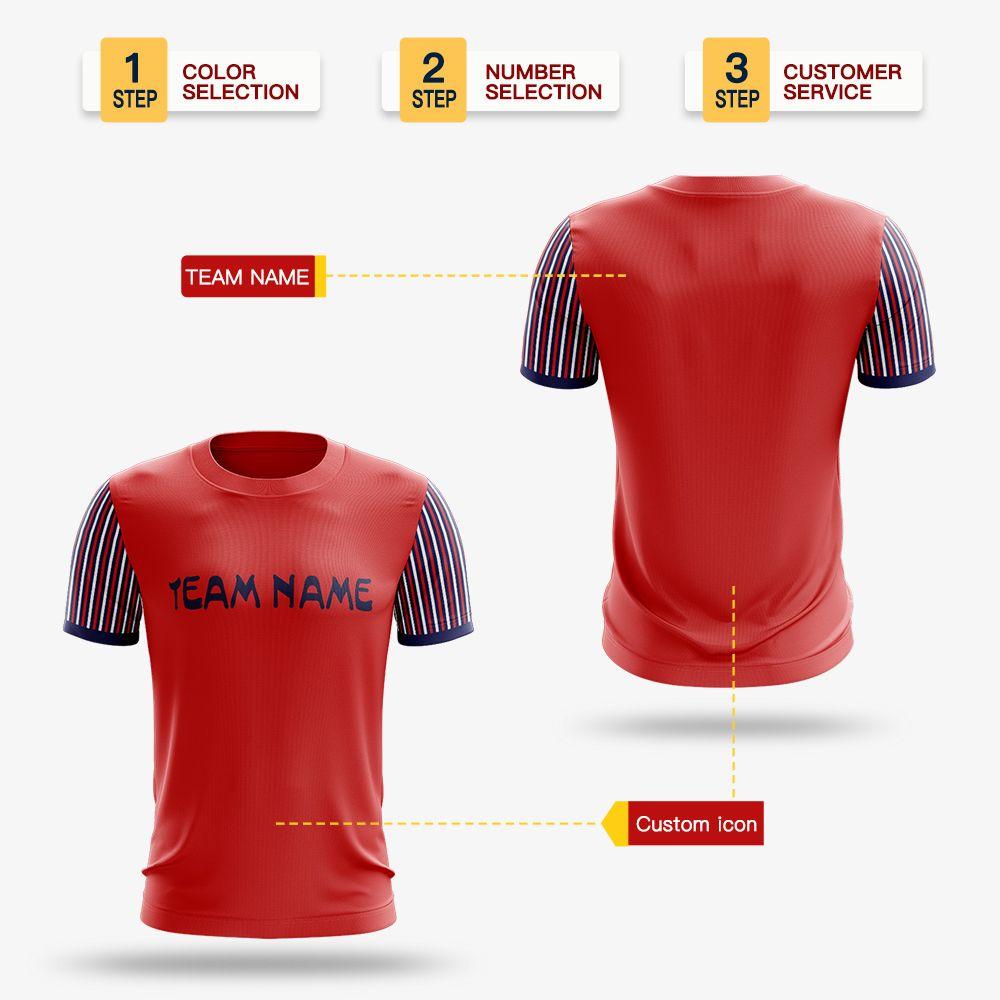 Whoesale Мужчины взрослых мальчиков трикотажных изделий футбол печать Обучение игра Футбол футболка Профессиональный дизайн