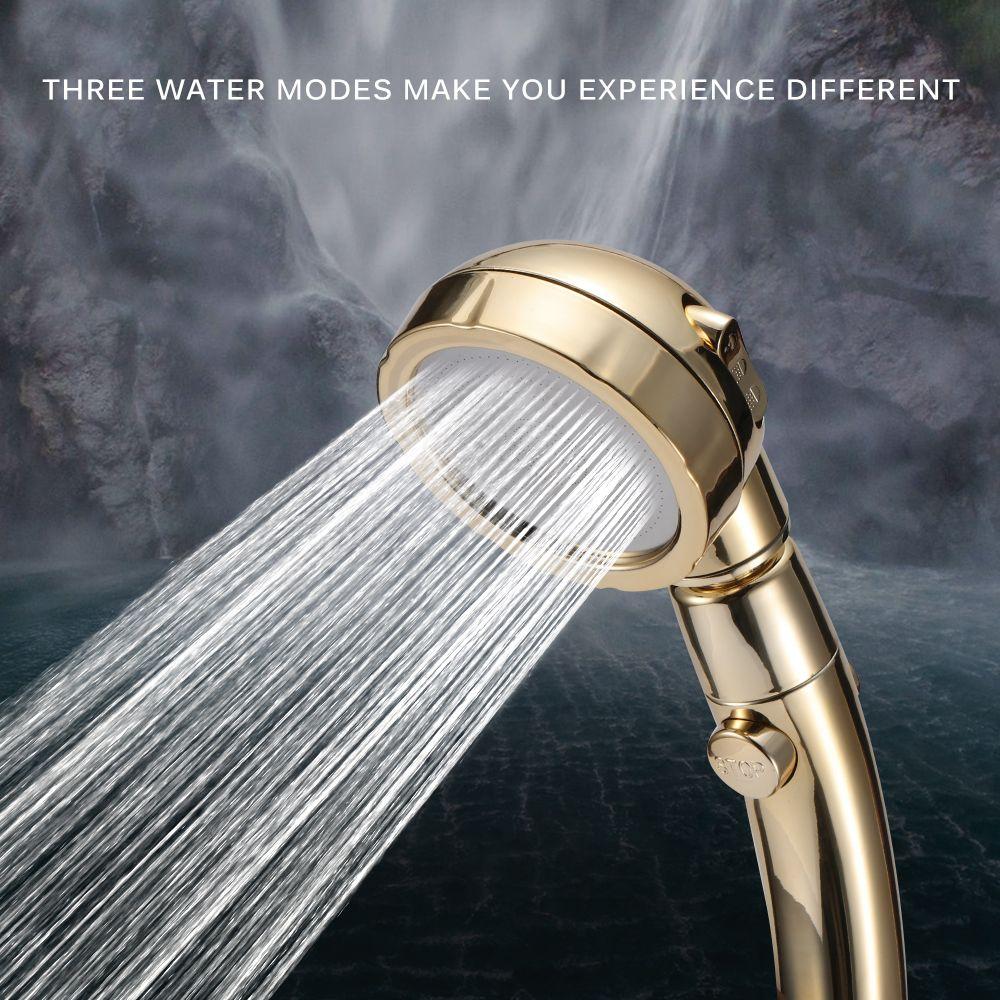 دش محمول رئيس الضغط العالي 3 طرق للتعديل ON / OFF التبديل توفير المياه حمام سبا انفصال الدش