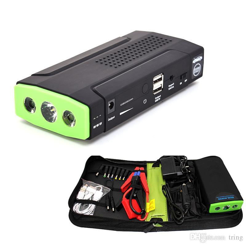 38000mAh Multifunktions-Mini-Sprung-Starter-Auto-Batterieladegerät Tragbare Telefon Power Bank Laptop-Mobiltelefon Externe wiederaufladbare Akkus
