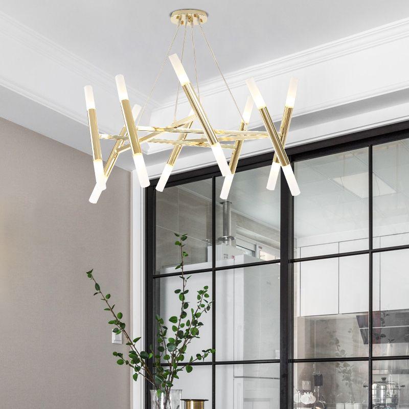 الحديث ضوء قلادة الإبداعية متجمد مصباح الظل قلادة مصباح غرفة المعيشة بسيطة مطعم مقهى الصناعية مطبخ LED شنقا