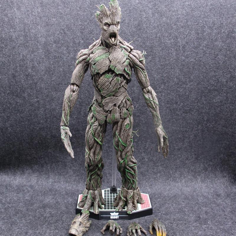 """Boneco De Ação 15/"""" Groot 1//6 Homem-árvore Vingadores Guardiões Da Galáxia Pvc Toy"""