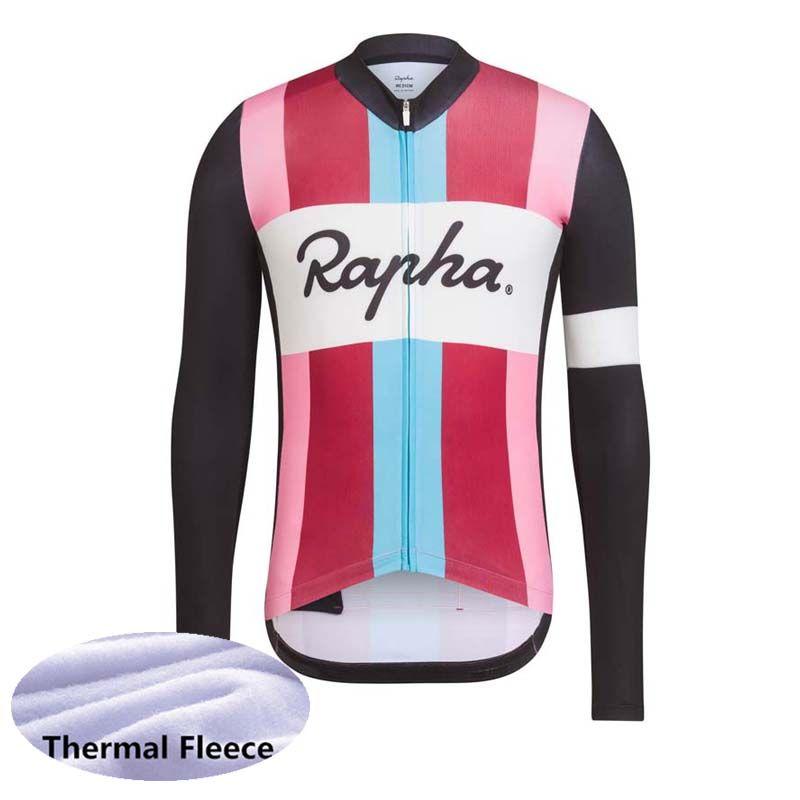 Alta Qualidade RAPHA equipe Ciclismo Inverno Térmica Velo jersey Venda Quente de Manga Comprida Bicicleta Ciclismo Jerseys ropa ciclismo hombre Y032908