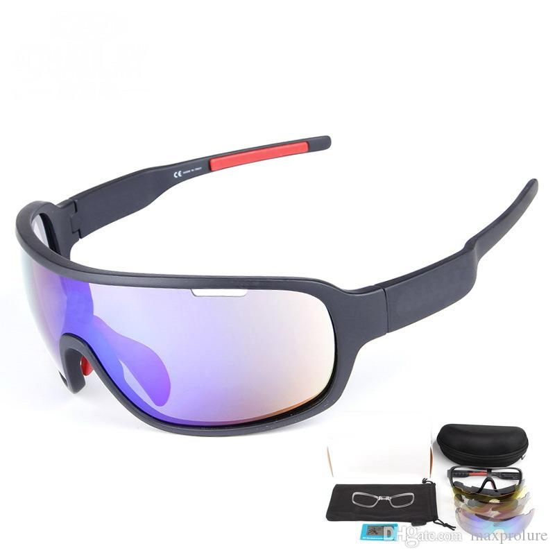 Polarized Sports Cycling Glasses Sunglasses with 5 Interchangeable Lenses for Men Women Cycle Bicycle Running Fishing Driving Golf Glass