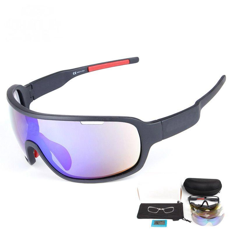 Deportes polarizados gafas de ciclismo Gafas de sol con 5 lentes intercambiables para hombres Mujeres Ciclo Bicicleta Correr Pescar Conducir Golf Cristal