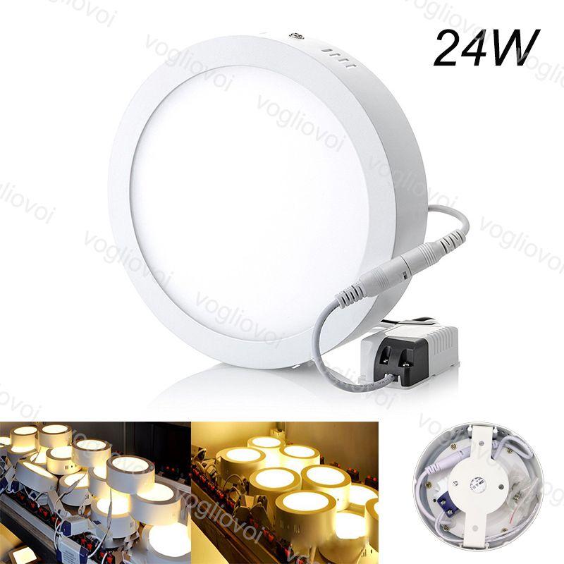 Downlights Redonda Superfície 24W 295mm Face AC110V 240V Alumínio Acrílico Side Emitindo White White para Quarto Cozinha Corredor DHL
