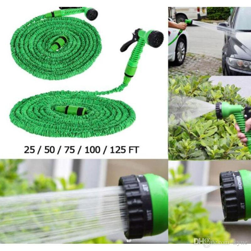 Top Seller Watering Garden Hose Car Wash Stretched Magic Expandable Garden Supplies Water Hoses Pipe Car Cleaning Tools 15M
