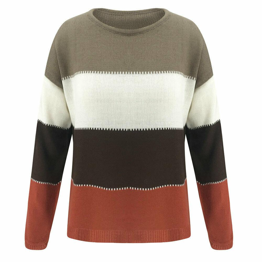 Fashion-Women Knitted Sweater Jumper Long Sleeve Ladies Sweatshirt Pullover Blouse Tops Free Shipping Factory