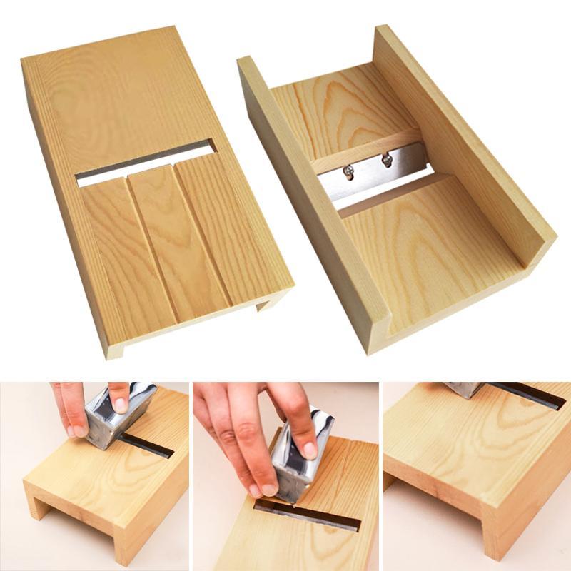 Recém Ferramentas de madeira Beveler Planer Handmade Soap Vela Pão de molde cortador Soap corte Craft fabricação de ferramentas