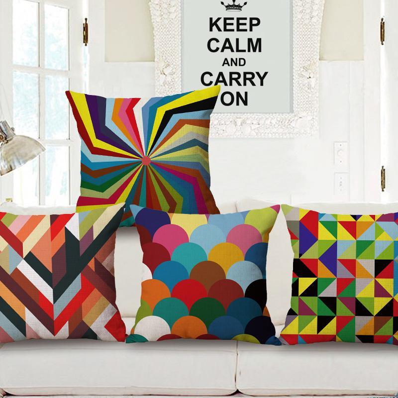 Sofà moderno del cotone di caso di cuscino di abbraccio concetto dalla cassa del cuscino