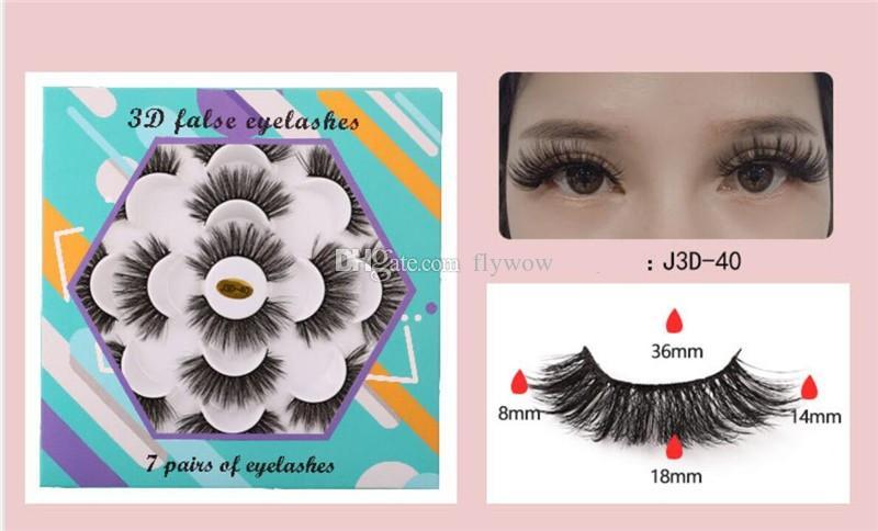 5 sets New 7 Pairs Faux 3D Mink Eyelashes Natural Long False Eyelashes Eye Makeup Eyelash Extension Fake Mink Lashes
