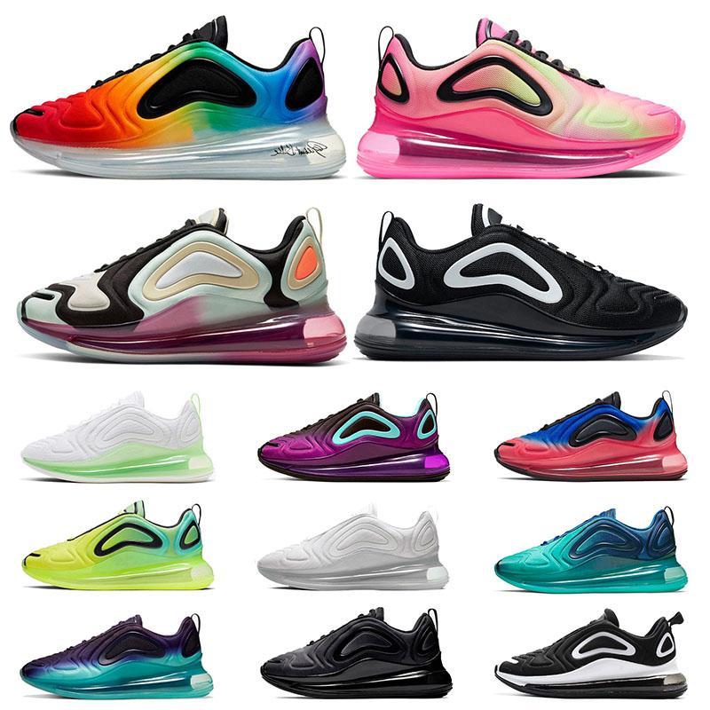 NIKE AIR MAX 720 airmax Top Qualité Nouveau 2020 Baskets STOCK X Hommes Formateurs Chaussures de Course Triple Blanc Laser Rose Noir Gym Rouge Loup Gris Femmes Designer Sneakers
