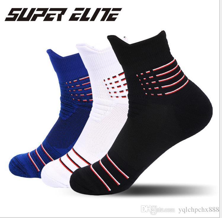 Terry Socken, rutsch Stoßdämpfer, Herren Sportsocken, Herren-Basketball-Socken, Elite Socken