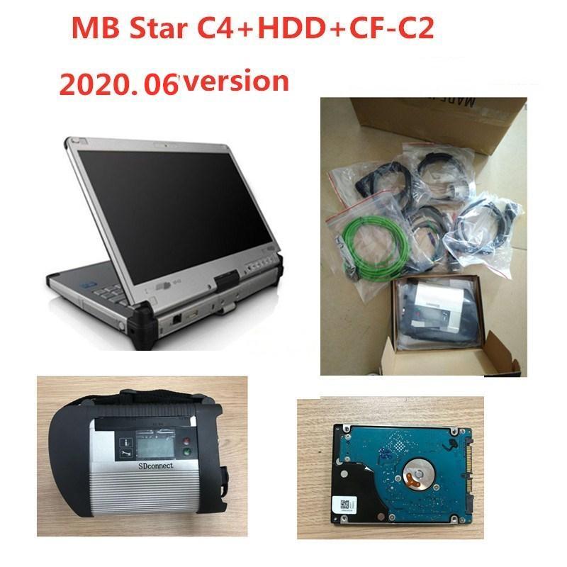 OBD2 varredor MB ESTRELA C4 Multiplexer Estrela Diagnóstico SD Ligação C4 2.020,06 Software completa com a ferramenta de diagnóstico CFC2 CFC2