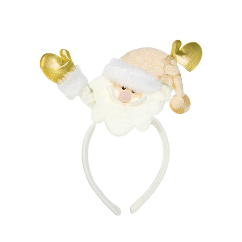 Christmas Decorations Cloth Santa Claus Headband Hair Ring Cute Biscuit People Girl Headband Christmas Hair Circle